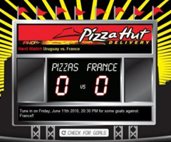 photo Pizza Hut Irlande offre 1 pizza par but contre la France