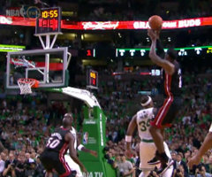 photo Premiers points de LeBron James avec Miami Heat