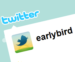 photo Promos sur le compte Twitter @EarlyBird