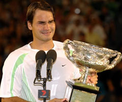 photo Roger Federer gagne l'Open d'Australie 2006