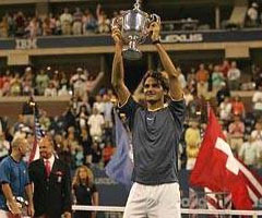 photo Roger Federer gagne l'US Open 2005