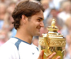 photo Roger Federer gagne Wimbledon 2005
