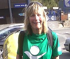 photo Rosie Swale Pope, 63 ans, court 27 marathons en 27 jours