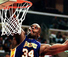 photo Shaquille O'Neal marque 61 points contre Los Angeles Clippers