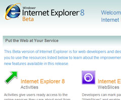 photo Sortie Internet Explorer 8