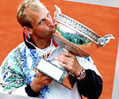 photo Thomas Muster gagne Roland Garros 1995