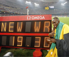photo Usain Bolt 19.30 record du Monde 200 m