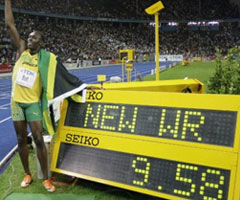 photo Usain Bolt 9.69 record du Monde 100 m