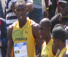 photo Usain Bolt et le relais 4x100 de la Jamaïque courent en 37,90 secondes