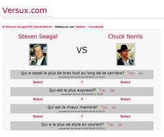 photo Versux.com : Qui est le plus fort entre Chuck Norris et Steven Seagal ?