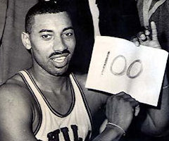 photo Wilt Chamberlain marque 100 points contre New York Knicks