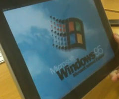 photo Windows 95 sur iPad